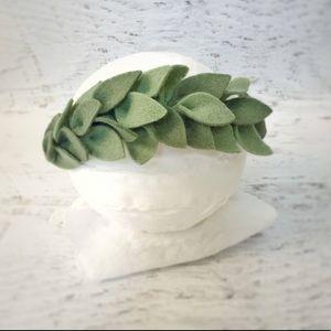"Other - Boho Felt Leaf Headband ""Flower"" Crown"
